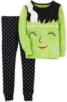 Carter's Girls 4-14 Mrs. Frankenstein Top & Polka-Dot Bottoms Pajama Set