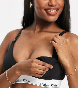 Calvin Klein Modern Cotton Nursing Bra in black