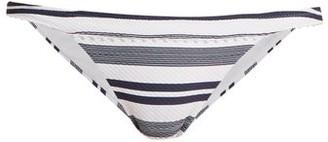 Heidi Klein Martha's Vineyard Striped Bikini Briefs - Blue Stripe