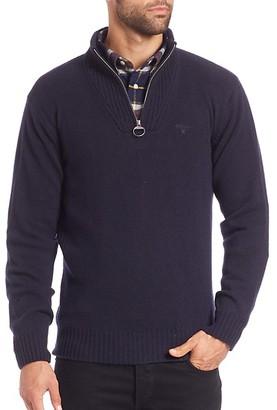 Barbour Essential Half Zipneck Wool Sweater