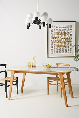 Anthropologie Anders Oak Dining Table By in White Size ALL