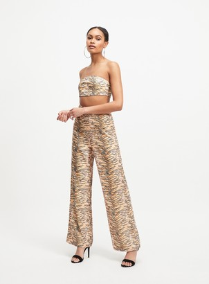 Miss Selfridge OH MY DAYS Multi Colour Tiger Print Trousers