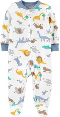 Carter's Baby Boy Dinosaurs 2-Way Zip Cotton Sleep & Play