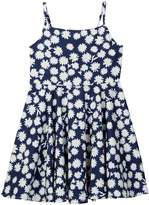 Funkyberry Floral Print Dress (Toddler & Little Girls)