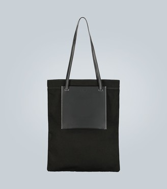 Jil Sander Leather-trimmed tote with pockets