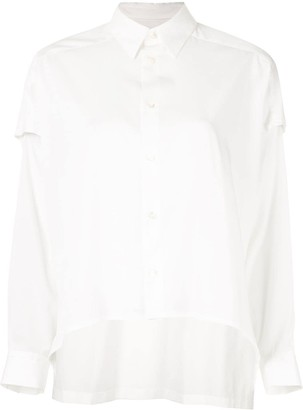 Ujoh Cut Out Sleeves Shirt