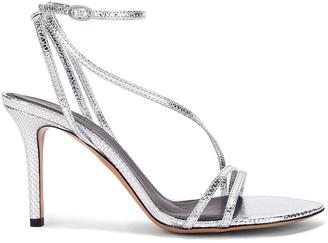 Isabel Marant Axee Sandal in Silver | FWRD
