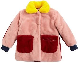 Little Marc Jacobs Color Block Faux Fur Coat