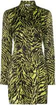 Ganni Tiger Print Shirt Dress