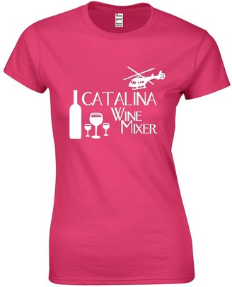 JLB Print Catalina Wine Mixer Comedy Film Inspired Premium Quality Fitted T-Shirt Top for Women and Teens