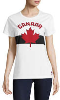 Canadian Olympic Team Collection Womens Maple Leaf Applique Tee