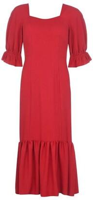 Biba Square Neck Linen Dress