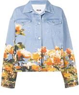 MSGM floral print denim jacket