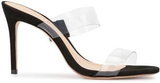 Schutz Clear Strap Sandals