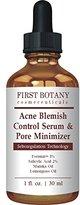 First Botany Cosmeceuticals Acne Blemish Control Serum & Pore Minimizer 1 fl. oz - Best Acne Treatment & Anti Acne Serum, Visibly Reduces Blemishes & Pore Reducer