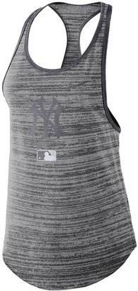 Nike Women's Gray New York Yankees Authentic Collection Velocity Team Issue Racerback Tank Top