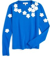 Milly Minis Girl's Floral Sweater