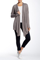 Michael Stars Draped Open Front Cardigan