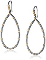 Freida Rothman Two-Tone Teardrop Earrings with Cubic Zirconia