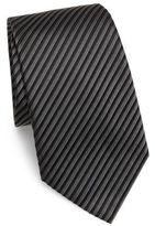 Armani Collezioni Diagonal Double Stripe Silk Tie