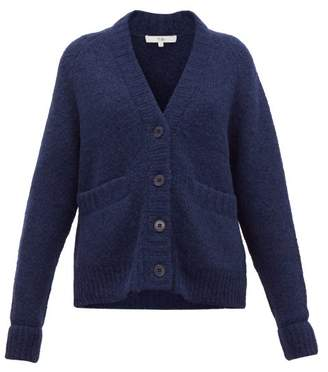 Tibi Cozette Raglan-sleeve Alpaca-blend Cardigan - Womens - Navy