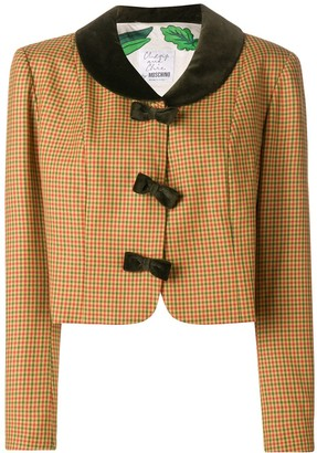Moschino Pre-Owned 2000's checked cropped jacket