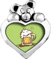GiftJewelryShop Frothy Beer Light Rose Crystal October Birthstone I Love You Heart Care Bear Charm Beads Bracelets