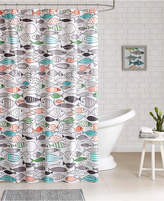 HipStyle Sardinia Printed Cotton Shower Curtain