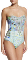 Camilla Embellished Bandeau One-Piece Swimsuit, My Majorelle