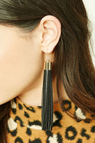 Forever 21 FOREVER 21+ Faux Leather Drop Earrings