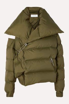 Marques Almeida Marques' Almeida - Oversized Asymmetric Quilted Shell Down Jacket - Green