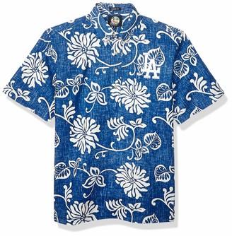 Reyn Spooner Men's Los Angeles Dodgers MLB Classic Pullover Hawaiian Shirt