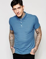 Lindbergh Polo Shirt In Blue In Slim Fit