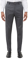 Jaeger Cotton Birdseye Slim Fit Trousers, Grey