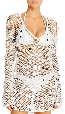 Caroline Constas Crochet Dress Swim Cover-Up