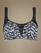 Marks and Spencer High Impact Flexi Wire Abstract Print Non-Padded Sports Bra A-G