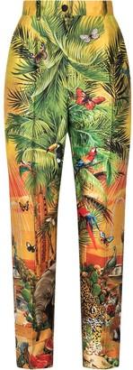 Dolce & Gabbana Jungle-Print Trousers