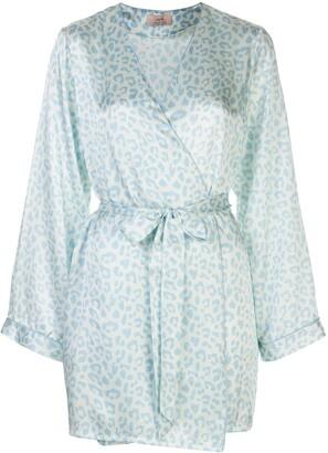 Morgan Lane x Atlanta Langley leopard-print robe