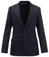 Dolce & Gabbana Single-breasted Cotton-blend Jacket - Mens - Navy