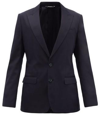 Dolce & Gabbana Single-breasted Cotton-blend Jacket - Navy