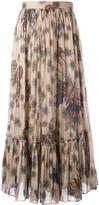 Valentino butterfly print pleated skirt