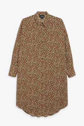 Monki Oversized midi shirt dress