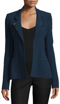 Thierry Mugler Strong-Shoulder Open-Front Jacket, Navy