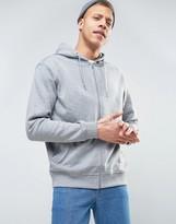 Weekday Bom Basic Zipthru Hooded Sweatshirt