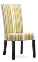 Kristen Upholstered Dining Chair Uniquely Furnished Body Fabric: Grotto Sunny
