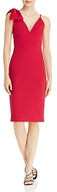 Avery G Bow-Accent Sheath Dress