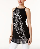 Alfani Embroidered Top, Only at Macy's