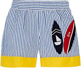Florence Eiseman STRIPED COTTON SWIM TRUNKS