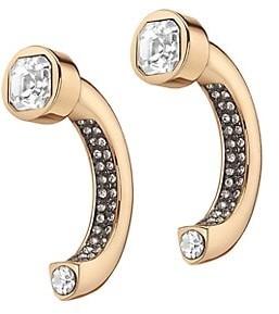 DEMARSON Atria 12K Goldplated & Swarovski Crystal Pave Convertible Earrings
