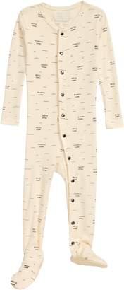L'ovedbaby Ocean Print Organic Cotton Footie